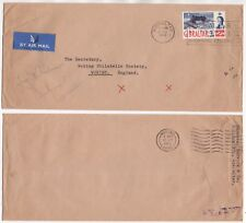 1963 GIBRALTAR Air Mail Cover to WOKING GB SG164 Marvick & Co SLOGAN
