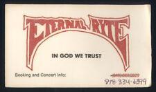 ETERNAL RYTE - 4-SONG DEMO - CHRISTIAN METAL - DEMO 1987/88-ISH