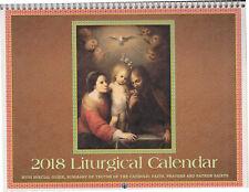 2018 Traditional Catholic Latin Mass Wall Calendar