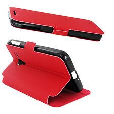 Etui Rabattable Rouge Avec Support pour Alcatel One Touch Pop D5 OT-5038