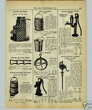 1927 PAPER AD Gould's House Water Force Pump Pitcher Spout Well Lift