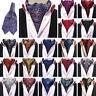 Men's Ascot Paisley Cravat Skinny Silk Tie Jacquard Woven Leisure Party Necktie