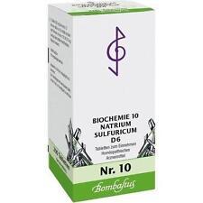 BIOCHEMIE 10 Natrium sulfuricum D 6 Tabletten 200St Tabletten PZN 1073840
