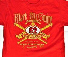 Vintage Mark McGwire T-Shirt Large Baseball Home Run Record St. Louis Cardinals