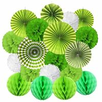 Cocodeko Hanging Paper Fan Set, Tissue Paper Pom Poms Flower Fan and Honeycomb B