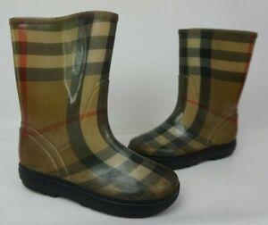 Burberry Nova Check Rain Boots Size 13 US / 31-32 EU