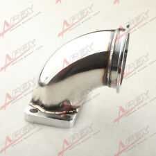 """STAINLESS STEEL 3.0"""" V-BAND T3 TURBO EXHAUST 90 DEGREE ELBOW ADAPTER FLANGE"""