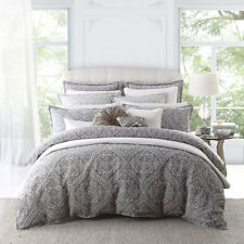 Private Collection Super King Size Manon Silver Duvet Doona Quilt Cover Set