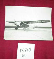 N°15503 bis  / photo d'epoque monoplan trimoteur de la SWISSAIR