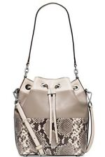 NEW! MICHAEL Michael Kors Dottie Embossed-Python/Leather Large Bucket Bag*