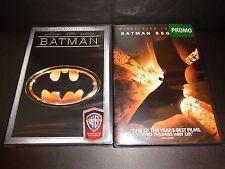 BATMAN-2 disc Spec Ed & BATMAN BEGINS-2 movies-MICHAEL KEATON, CHRISTIAN BALE