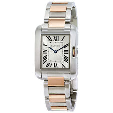 Cartier Tank Anglaise Silvered Flinque Dial Mens Watch W5310043