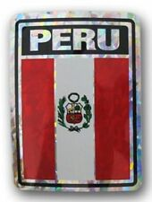 Wholesale Lot 12 Peru Country Flag Reflective Decal Bumper Sticker