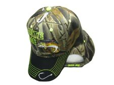 Bite Me Hook Trout Fishing Camouflage Black Bill Embroidered Cap Hat 925C