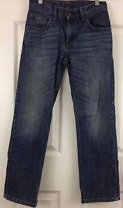 LEVIS 505 Jeans Zip Front Mid Rise Straight Leg Cotton Denim Boys 12Reg 26x26.5