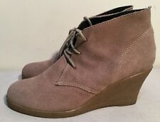 Women's Size AU 8 / EUR 39 Leather Suede Lace Up Ankle Wedge Boots