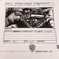 DEMOLITION MAN - Production Made Storyboard Wesley Snipes as Phoenix SC136 SB66