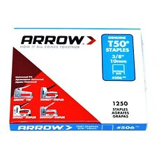 """PACK OF 1250 x GENUINE ARROW T50 10mm (3/8"""") HEAVY DUTY STAPLES - UPHOLSTERY"""