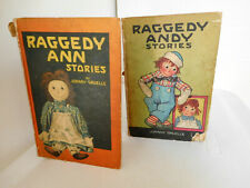 1920 & 1918 Raggedy Ann & Andy Stories Lot of 2 Books Johnny Gruelle, Volland