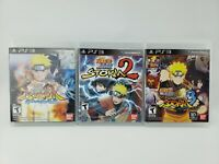 Naruto Shippuden Ultimate Ninja Storm 1 2 3 Generations PS3 LOT Tested