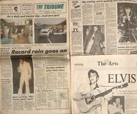 Elvis Presley Death August 17 1977 Original Tribune Newspaper Memphis Graceland