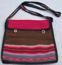 Wool/Alpaca Woven Fabric Purse  Multi-Color Handmade in Peru