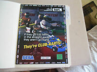 CLUB KART SEGA      ARCADE   GAME  FLYER
