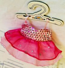 Build a Bear Buddies Pink Sparkle Sequin Smallfrys Dress Mini Outfit Hanger Lot