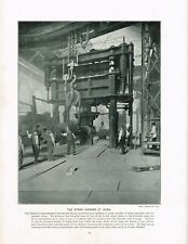 Atlas Steel And Iron Works Sheffield Steam Hammer Antique Print 1897 TQE#167