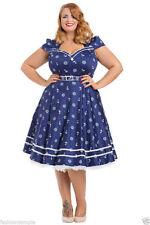 Women's Plus Size Cotton Blend 50's, Rockabilly Party Dresses