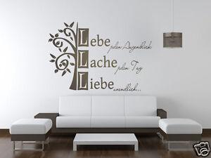 Wandspruch Lebe Lache Liebe unendlich Wandtattoo Aufkleber Wohnzimmer Flur TK18
