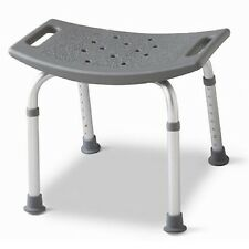 Backless Bath Bench Adjustable Shower Stool Seat Non Slip Handicap Chair 250 lbs