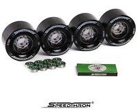 Longboard Rollen 83mm schwarz + ABEC 9 / Longboard wheels 83mm black + ABEC 9