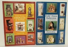 2 books DOLLS' HOUSE Fireplaces Stoves & Bathrooms