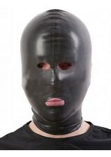 SALE Latex Hood OPEN-EYES-NOSE-MOUTH / RED & TRANS / Made in UK / 109a