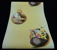 """94182-3-4) 5 Rollen hochwertige Kinderzimmer Papier Tapeten """"Die Biene Maja"""""""