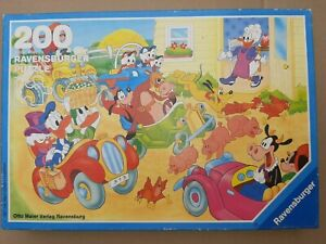 Innen wie neu: 200 Teile Puzzle Ravensburger Disney Donald Oma Duck 1987 TOP