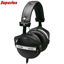 Superlux HD660 Studio Headphones Over Ear Stereo Pro Closed Back HiFi Earphones