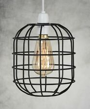 Retro Style Easy Fit Metal Pendant Cage Light Shade Funky Modern Rustic Vintage