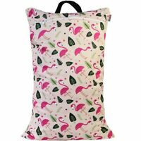 Waterproof Double Zip Large Wet Bag Pink Flamingo 40x70cm