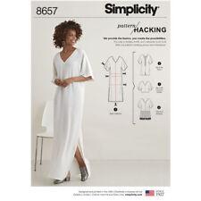 Simplicity 8657  0944 Paper Sewing Pattern Miss XXS-XXL Hacking Tunic Top Kimono