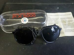 Vuarnet Glacier Sunglasses PX5000 Climbing leather Shield Glasses rare vtg (r7)