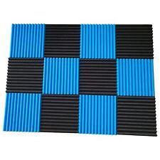 SODIAL 151167 Acoustic Panels Soundproofing Foam Tiles Studio Sound Wedges - 12 Pack