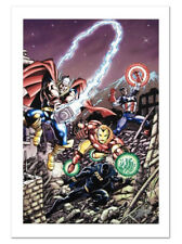 Avengers #21 Canvas Giclee Art George Perez Cover Marvel Artworks Collection