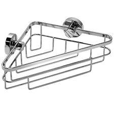 Croydex Brockham Non Drill Flexi-Fix Rust Free Corner Basket Shower Caddy Chrome