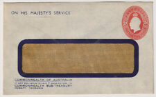 AUSTRALIA 1930s: unused stamped-to-order OHMS envelope with 2d red KGV indicium