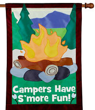 """Campers Have S'more Fun House Flag Large 40"""" x 28"""""""