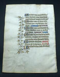 1450 Book of Hours ILLUMINATED MANUSCRIPT on VELLUM Benedictine Monks