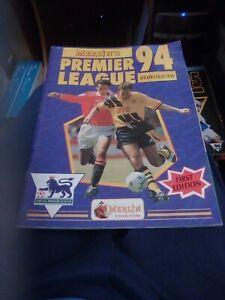 Complete Merlin Premier League Sticker Album 94 1994