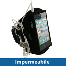Nero Fascia Braccio per Apple iPhone 4/4S 16/32/64GB Armband Sport Corsa Fitness